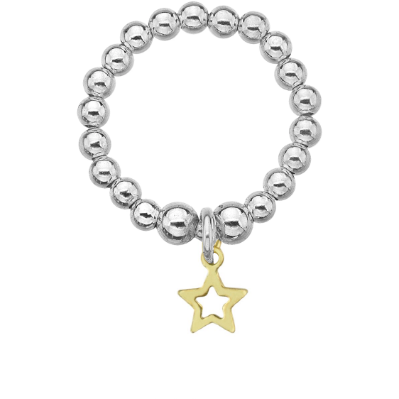 Mini Golden Star Ring