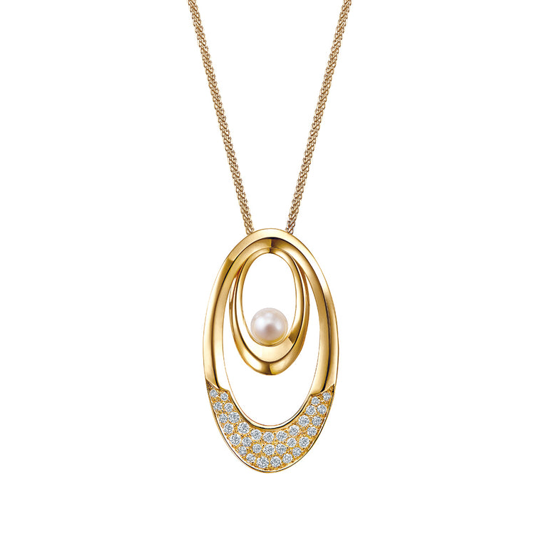 Eva oval pendant set