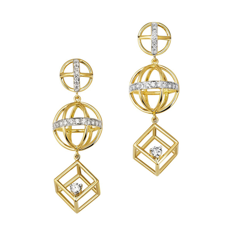 Chantum diamond earrings