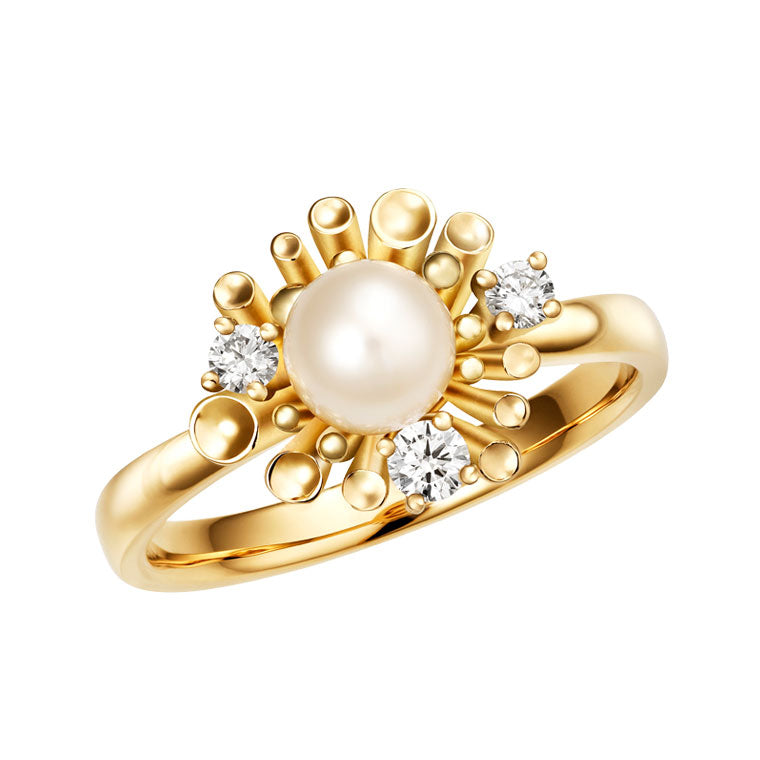 Dita pearl & diamond ring