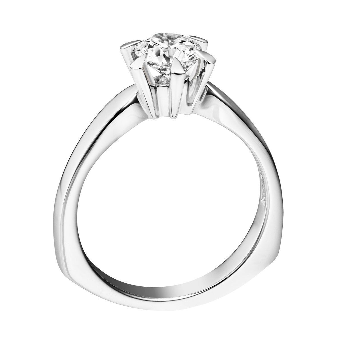 Eleni diamond solitaire ring