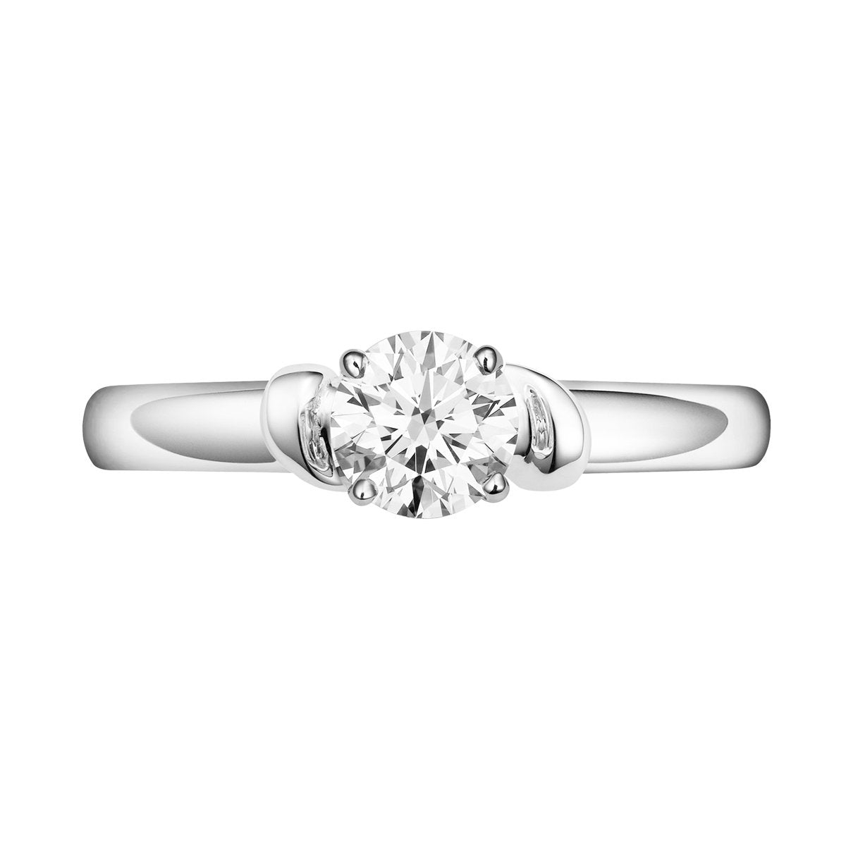 Love Knot diamond solitaire ring