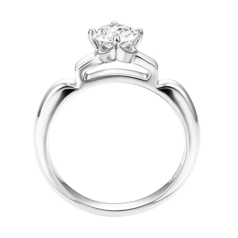 Hana diamond solitaire ring