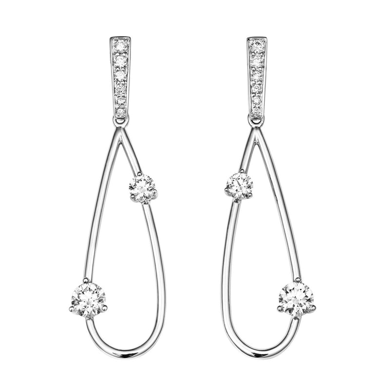 Leia diamond earrings