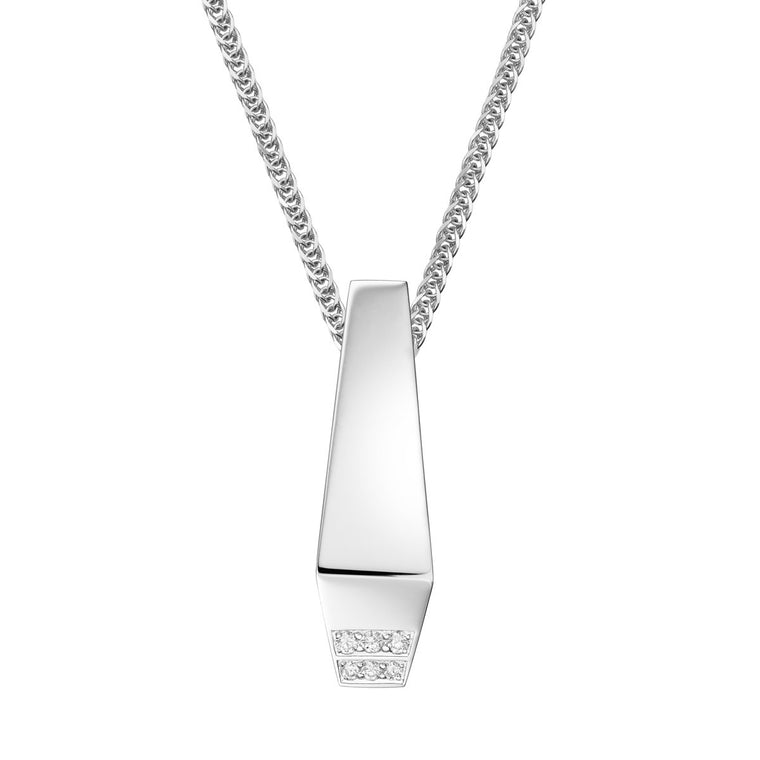 Men's diamond pendant