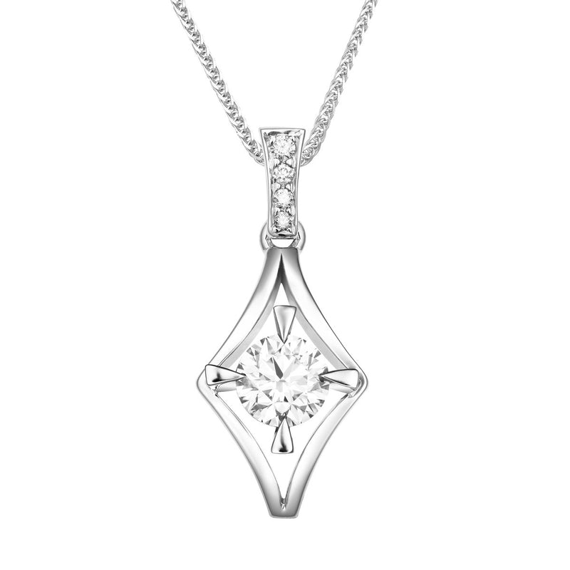 Nova diamond pendant
