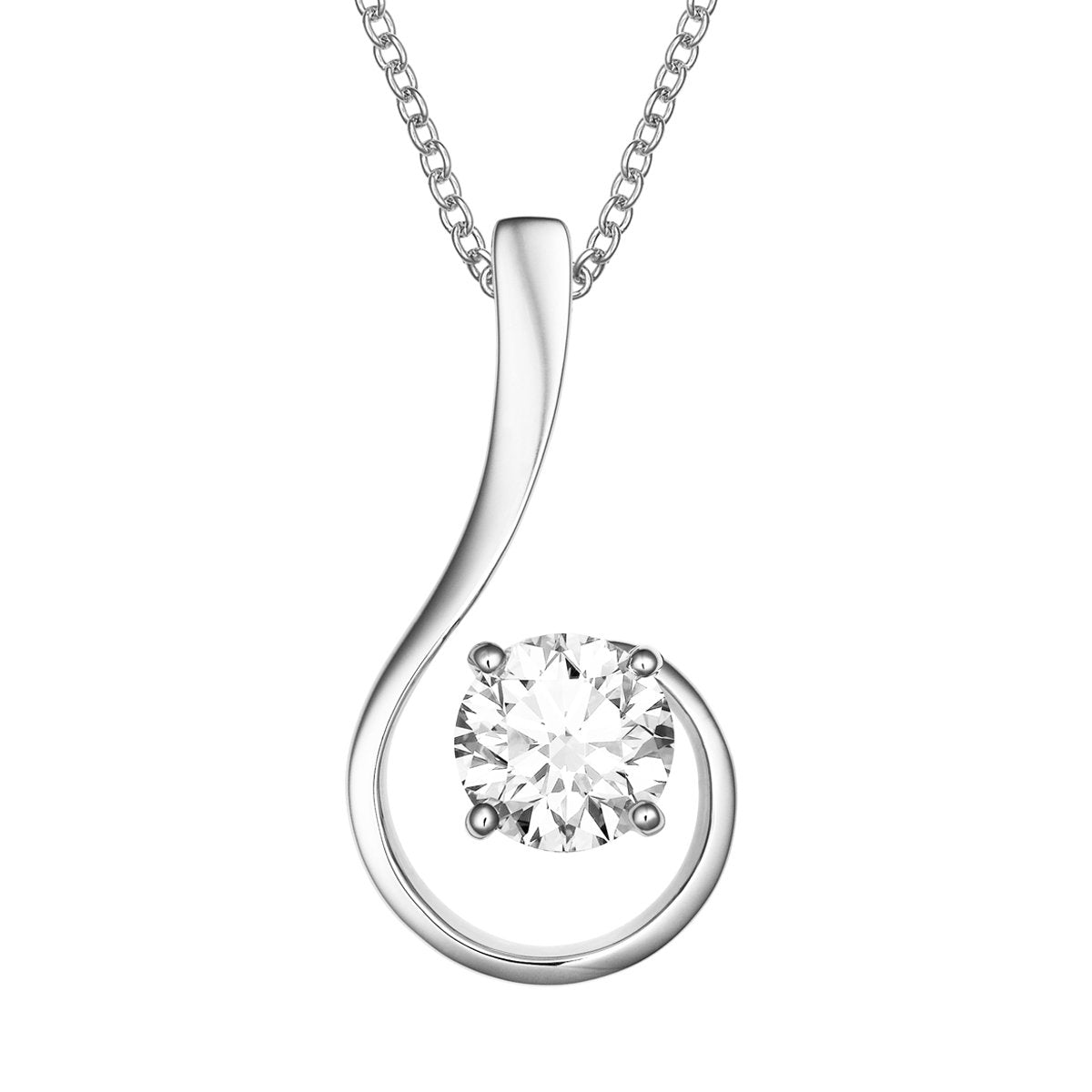 Onda diamond pendant
