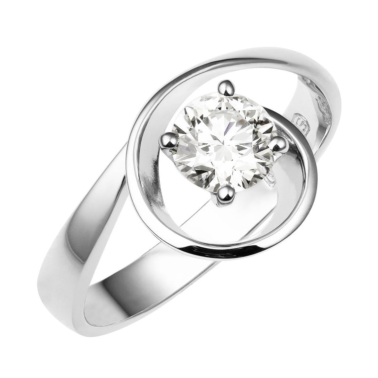 Onda diamond solitaire ring