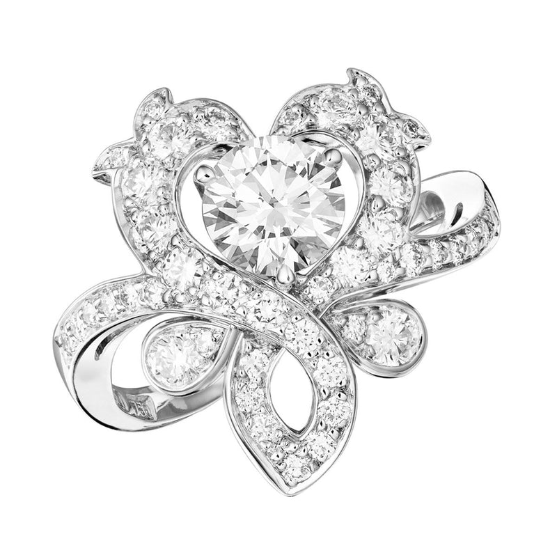 Rococo Reimagined diamond ring
