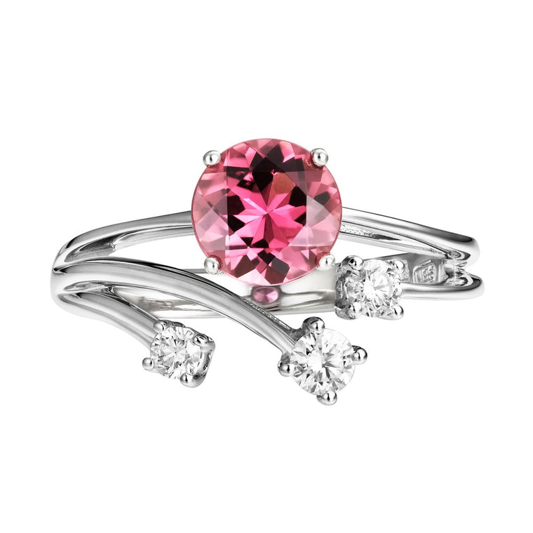 Saloma rubellite & diamond ring