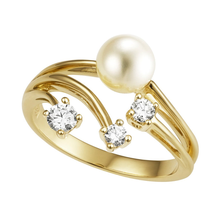 Saloma pearl & diamond ring