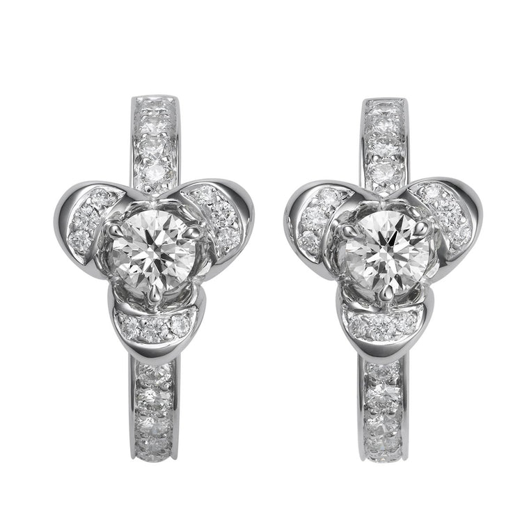 Leora diamond earrings