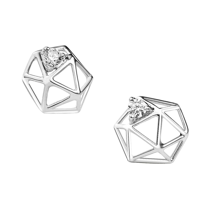 Ilona diamond earstuds - small