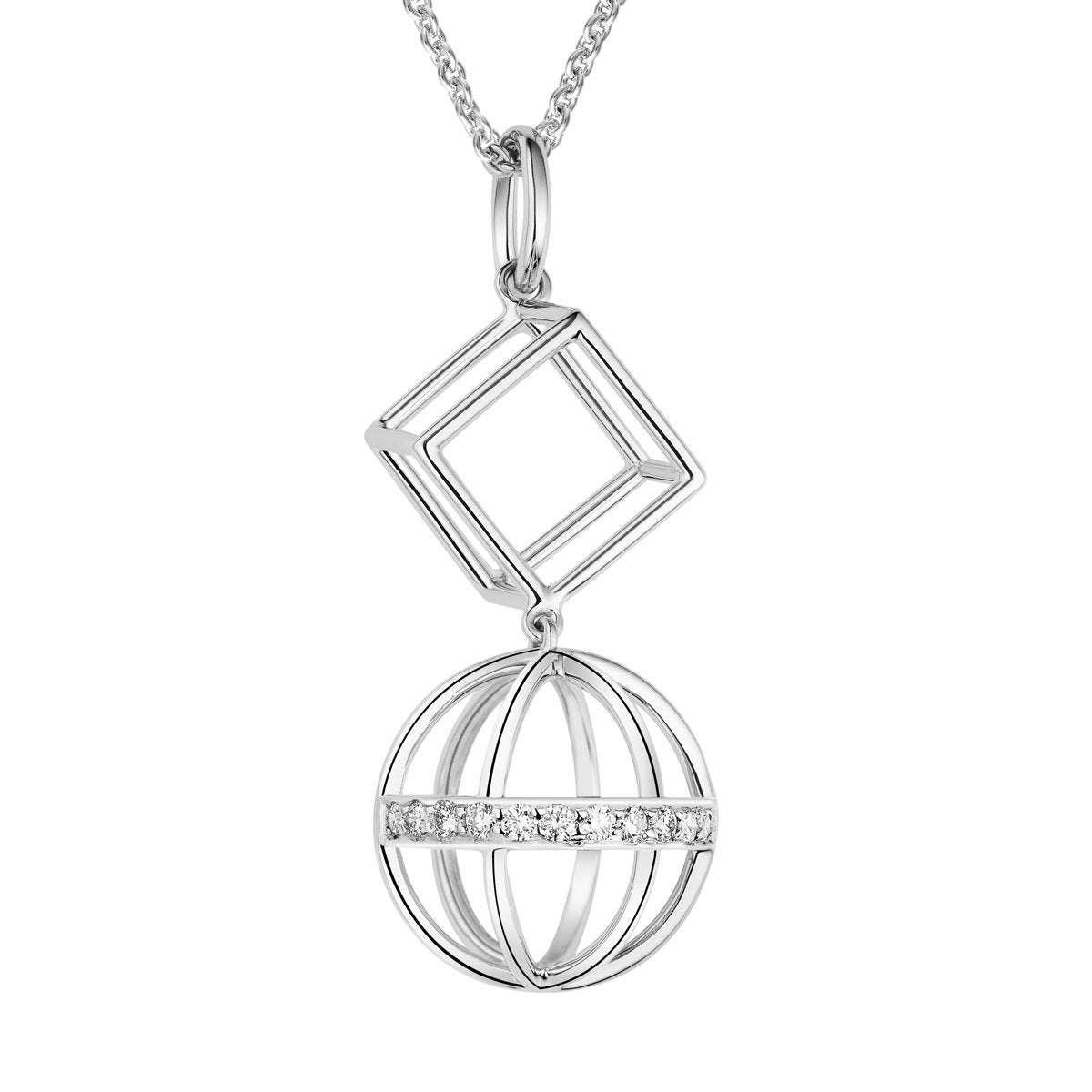 Chantum Dimensions diamond pendant
