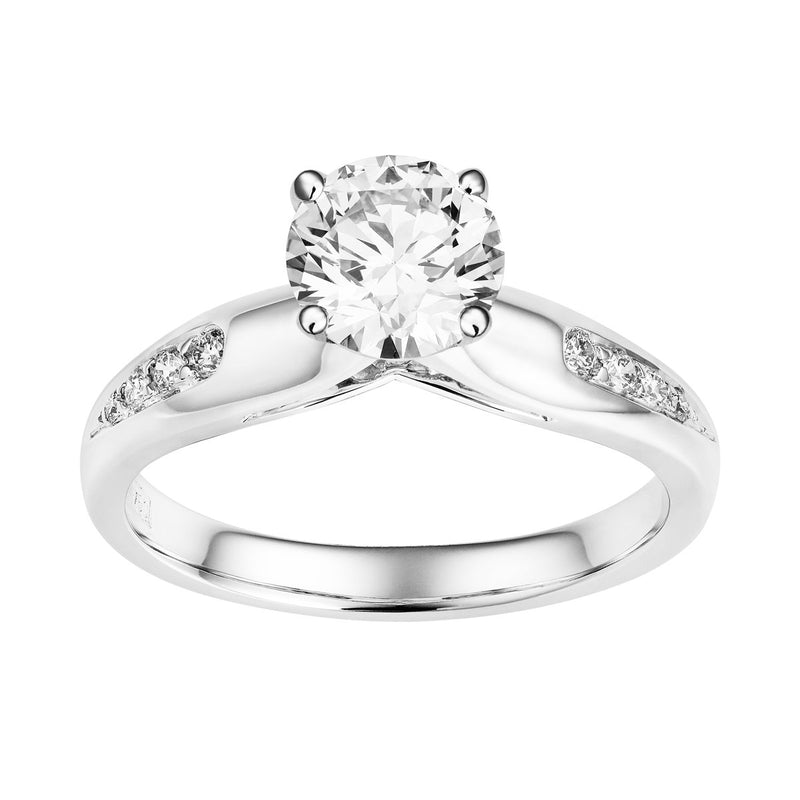 Leia diamond solitaire ring