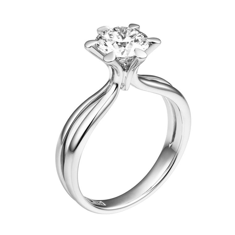 Tara diamond solitaire ring
