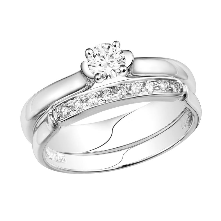 Leora diamond ring & diamond band