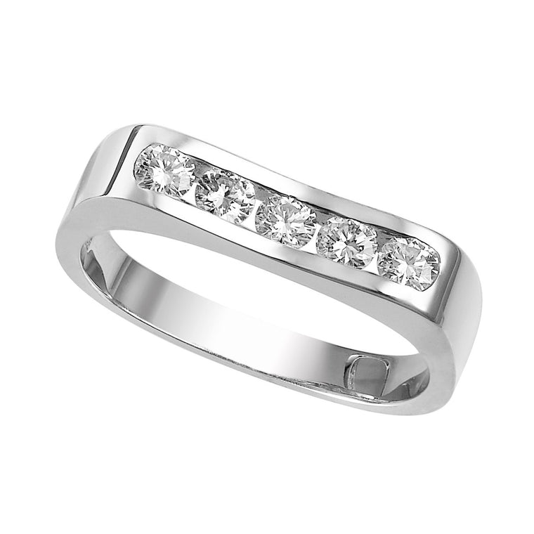Diamond channel-set ring