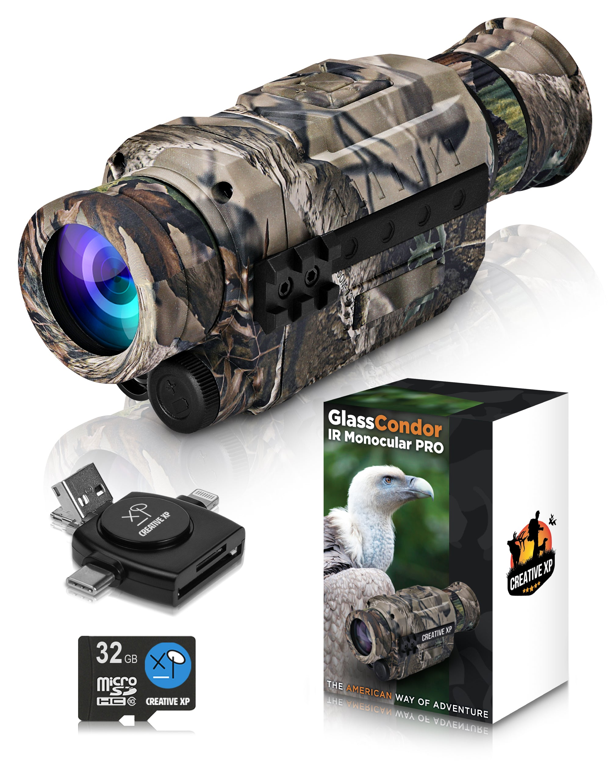 GLASSCONDOR - IR Night Vision Monocular PRO - Camo