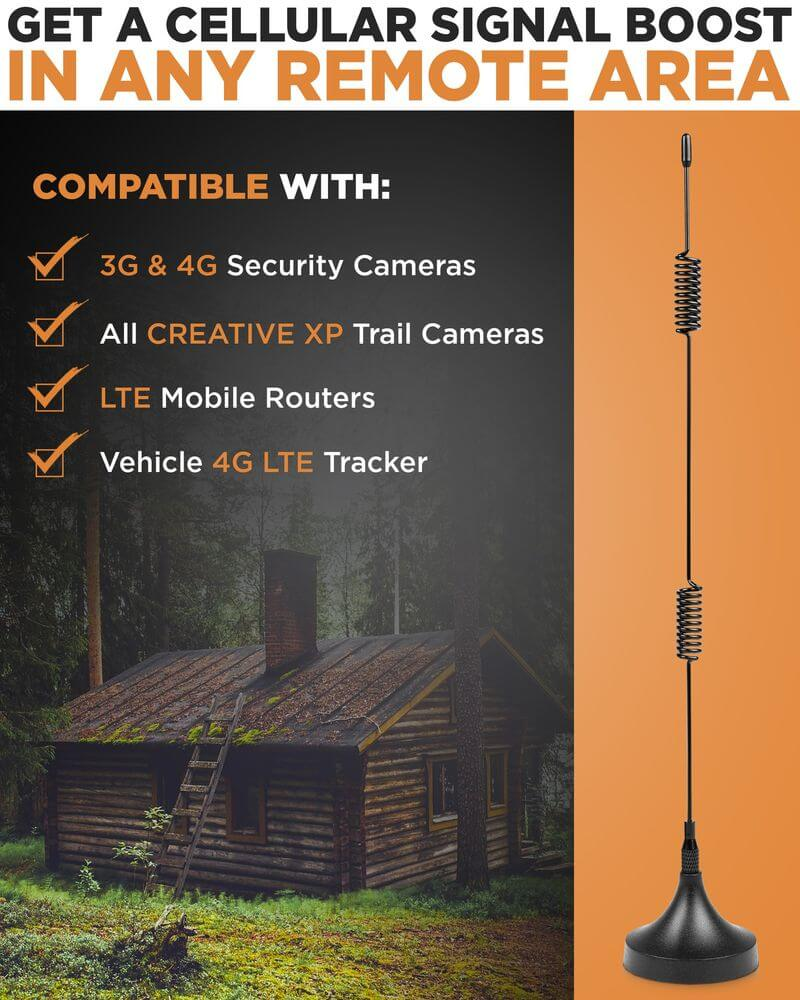Signal Antenna Booster for 3G / 4G LTE Cellular Trail Cameras