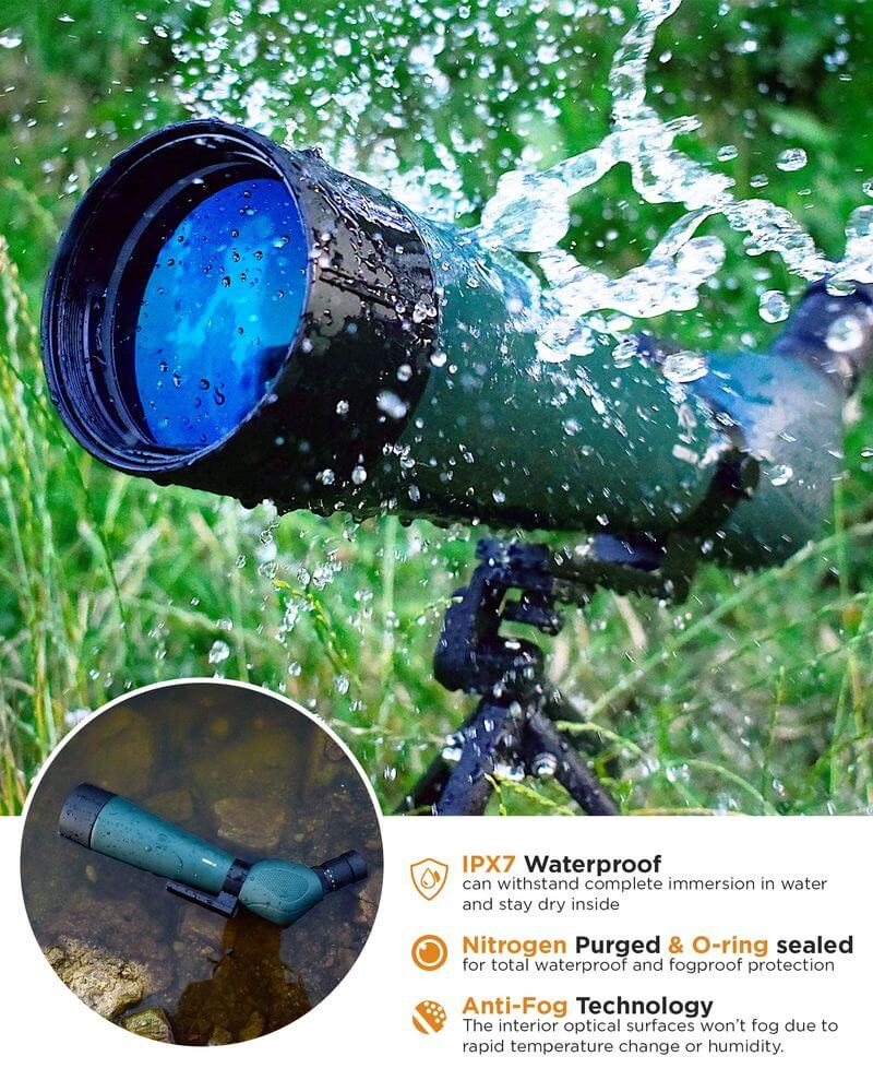 GlassHawk - HD Spotting Scope 20-60x80mm + Tripod