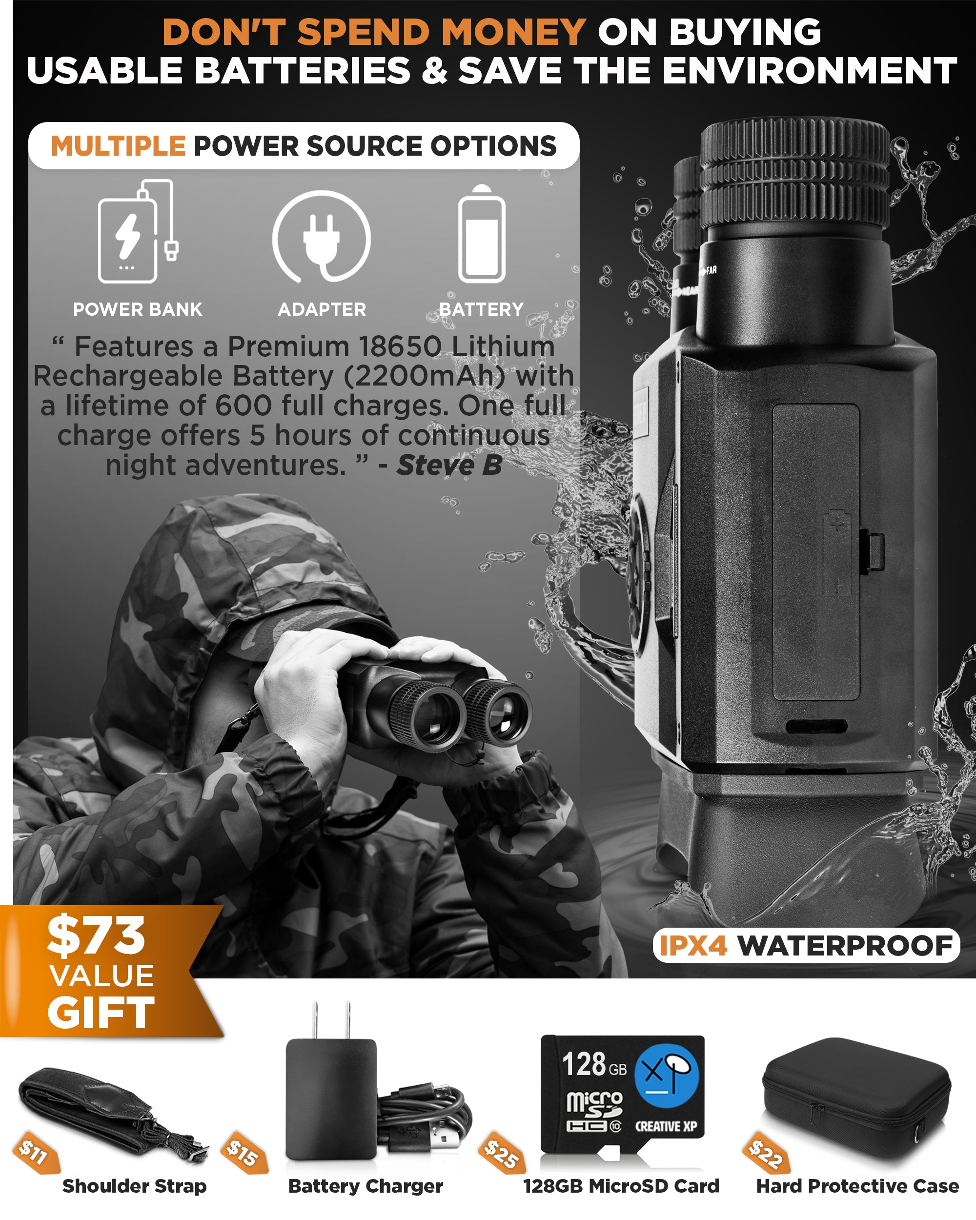 ELITE - NIGHT VISION IR DIGITAL BINOCULARS
