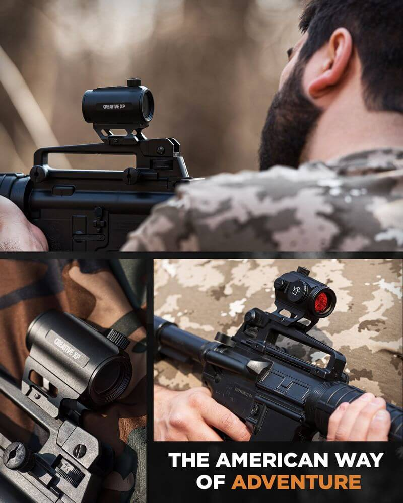 GlassFalcon - HD Red Dot Sight for Rifles 3 MOA