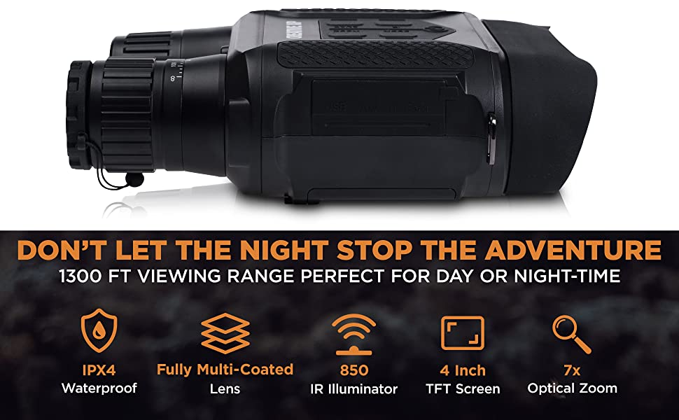 PRO - Night Vision IR Digital Binoculars