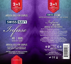 Swiss Navy Infuse 2-IN-1 His/Hers Stimulating Gels 50ml - Sex Toy Australia