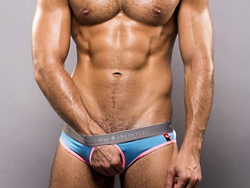 C-RING BRIEF W/SHOW-IT (AQUA)
