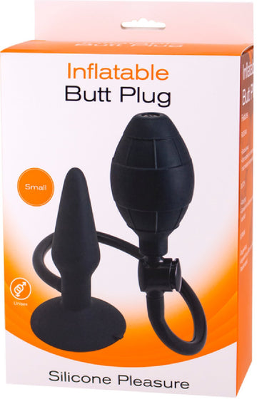 Inflatable Butt Plug- Small (Black)