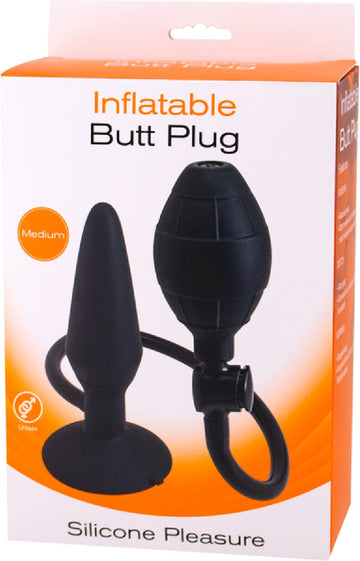 Inflatable Butt Plug- Medium (Black)