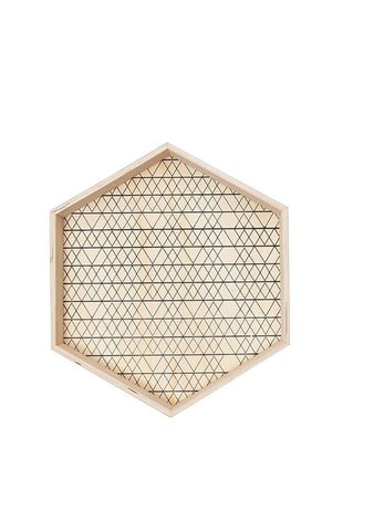General Eclectic - Hex Ply Wood Tray, Medium