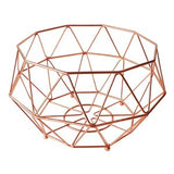 IS GIFT - Geometric Copper Fruit Basket, Medium