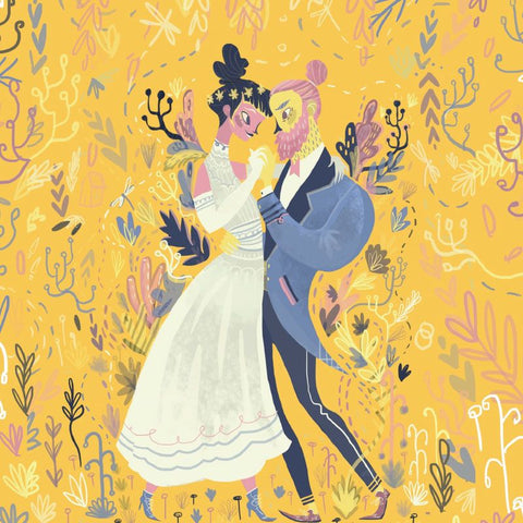 Lalaland - Wedding Congratulations Greeting Card