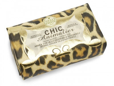 Nesti Dante - Chic Animalier, Bronze Leopard. Myrrh, Ginger Tea and Patchouli Soap 250g