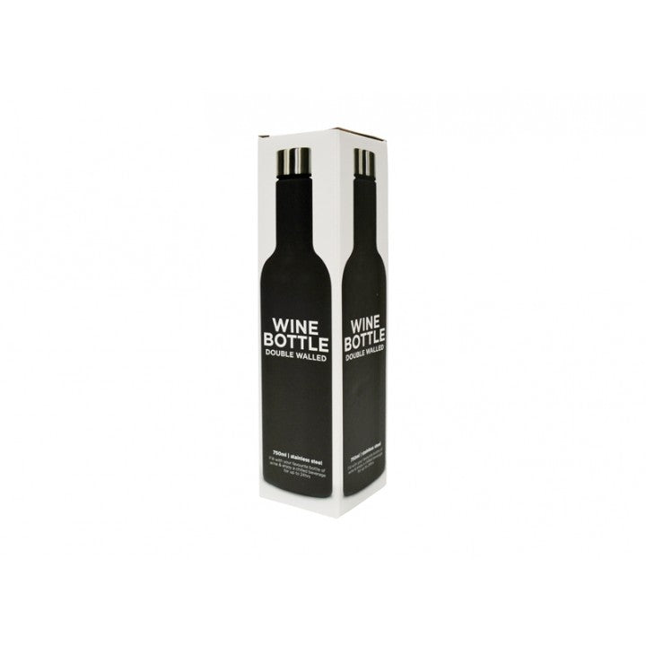 6ebedcc969e Annabel Trends - Double Walled Stainless Steel Wine Bottle 750ml, Black