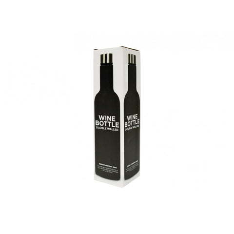 Annabel Trends - Double Walled Stainless Steel Wine Bottle 750ml, Black