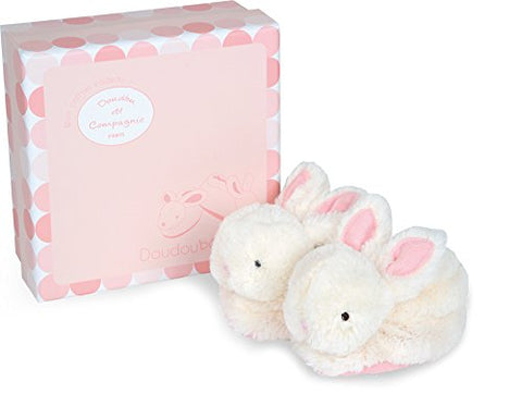 Doudou et Compagnie - Bunny Booties 0-6 months, Rose