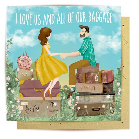 Lalaland - Baggage Greeting Card