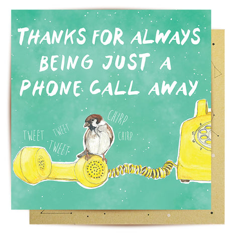 Lalaland - Phone Call Away Greeting Card
