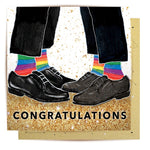 Lalaland - Congatulations Two Grooms Greeting Card