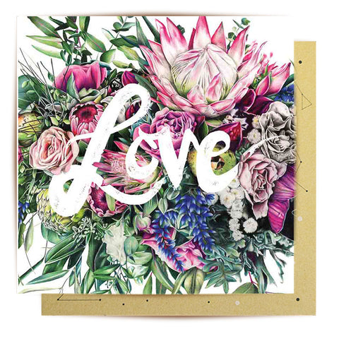 Lalaland - Mini Greeting Card, Love Bouquet