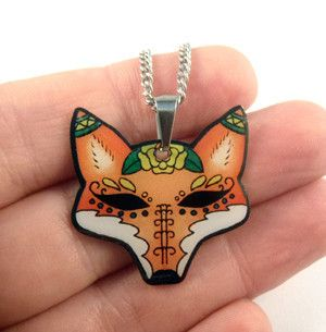 Jubly-Umph - Mini Pendant Necklace, Fox
