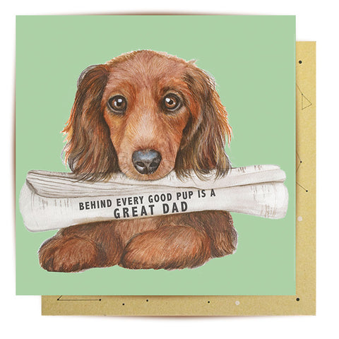 Lalaland - Newspaper Pup Greeting Card