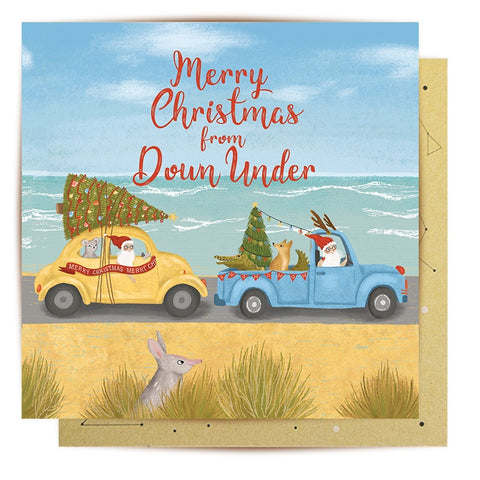 Lalaland - Santa Down Under Greeting Card