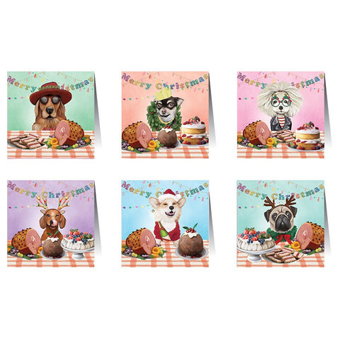 Lalaland - Christmas Card Set, Canine Christmas