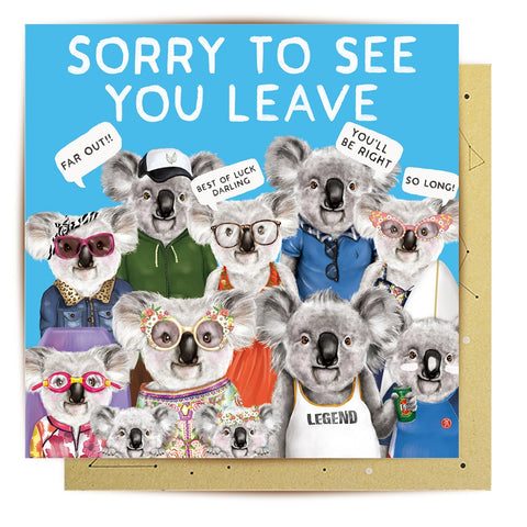 Lalaland - Sorry to See You Leave Greeting Card