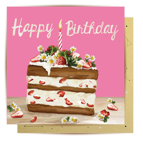 Lalaland - Strawberry Cake Greeting Card
