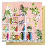 Lalaland - Book Shelf Birds Greeting Card